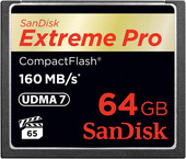 Карта памяти Карта памяти SanDisk Extreme Pro CompactFlash 64GB (SDCFXPS-064G-X46)