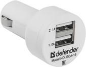 Автомобильное зарядное Defender ECA-15 [83561]