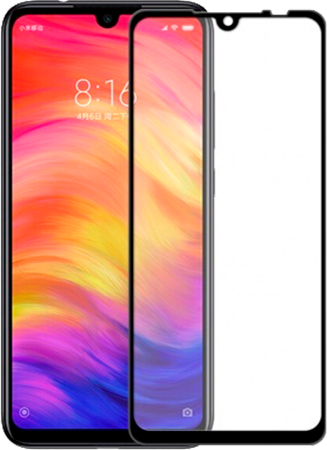 Защитное 5D Стекло для Xiaomi Redmi Note 8t (черное)