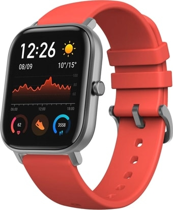 Умные часы Amazfit GTS (серый/красный)
