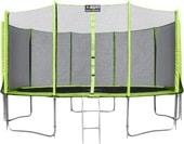 Батут Alpin 4.65 м с защитной сеткой и лестницей