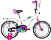 Детский велосипед Novatrack Candy 16 (белый/розовый, 2019)