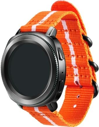 Ремешок Samsung Premium Nato для Galaxy Watch 42mm & Gear Sport (оранж.-белый)
