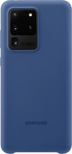 Чехол Samsung Silicone Cover для Galaxy S20 Ultra (темно-синий)