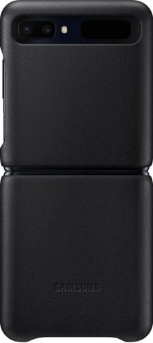 Чехол Samsung Leather Cover для Galaxy Z Flip (черный)