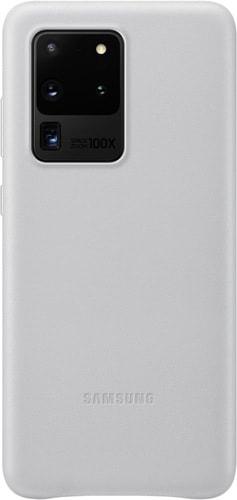 Чехол Samsung Leather Cover для Samsung Galaxy S20 Ultra (светло-серый)