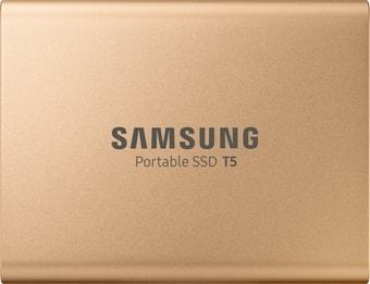 Внешний накопитель Samsung T5 500GB (розовое золото)