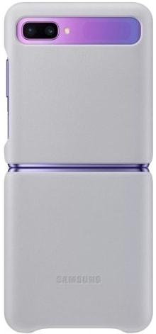 Чехол Samsung Leather Cover для Galaxy Z Flip (серый)