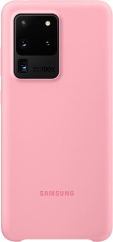 Чехол Samsung Silicone Cover для Galaxy S20 Ultra (розовый)