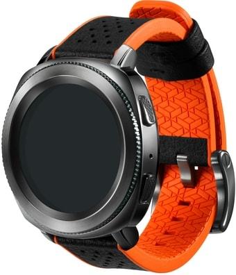 Ремешок Samsung Braloba Hybrid для Galaxy Watch 42mm/Gear Sport (черный/оранж.)
