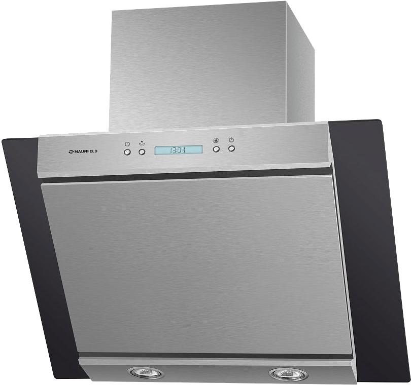 Кухонная вытяжка MAUNFELD Gloria 60 (нержавеющая сталь/черное стекло)