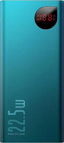 Портативное зарядное устройство Baseus Adaman Metal PPIMDA-A06 20000mAh (темно-бирюзовый)