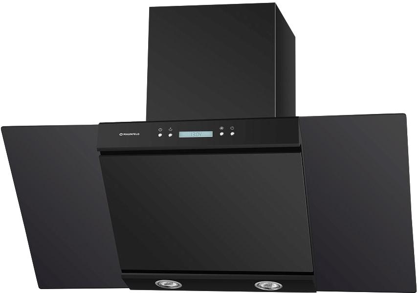 Кухонная вытяжка MAUNFELD Gloria 90 (черный/черное стекло)