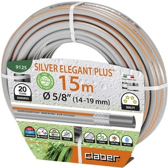 Шланг Claber Silver Elegant Plus 9125 (5/8″, 15 м)