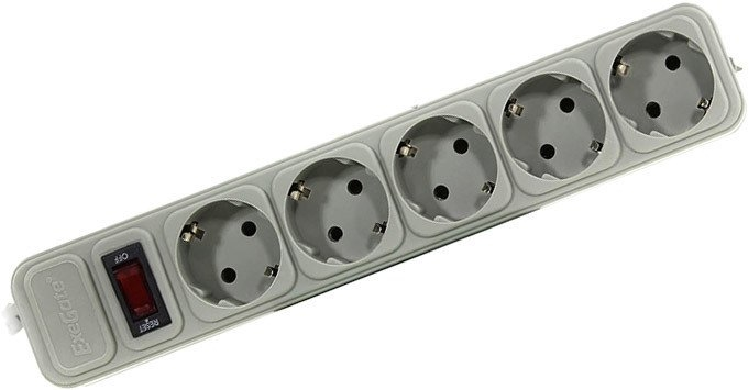 Сетевой фильтр ExeGate 5 розеток, 1.8 м, серый (SP-5-1.8G)