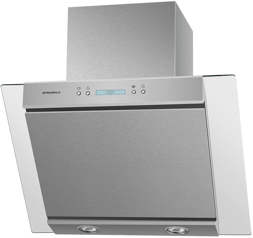 Кухонная вытяжка MAUNFELD Gloria 60 (нержавеющая сталь/прозрачное стекло)