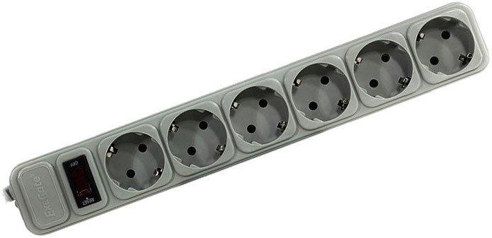 Сетевой фильтр ExeGate 6 розеток, 1.8 м, серый (SP-6-1.8G)