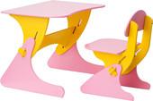 Детский стол Столики Детям Буслик Б-РЖ (розовый/желтый)