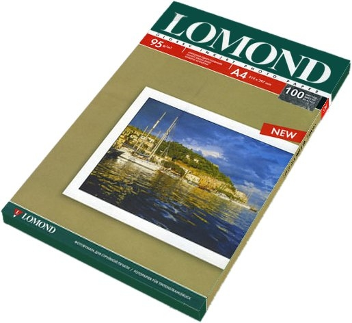 Фотобумага Lomond Глянцевая односторонняя A4 95 г/кв.м. 100 листов (0102145)