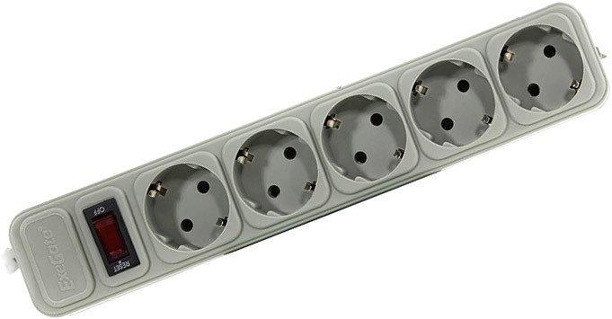 Сетевой фильтр ExeGate 5 розеток, 3 м, серый (SP-5-3G)