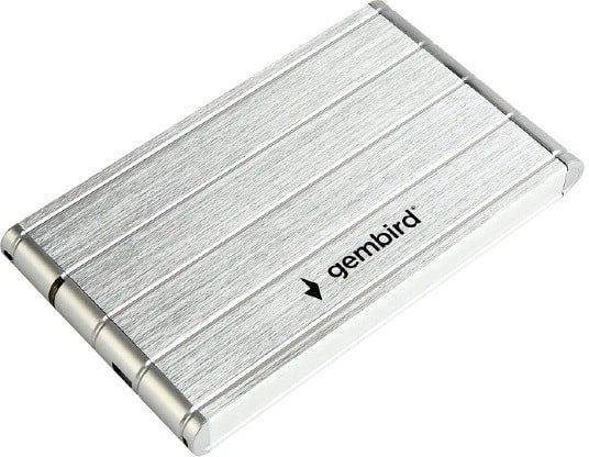 Бокс для жесткого диска Gembird EE2-U3S-5-S (серебристый)