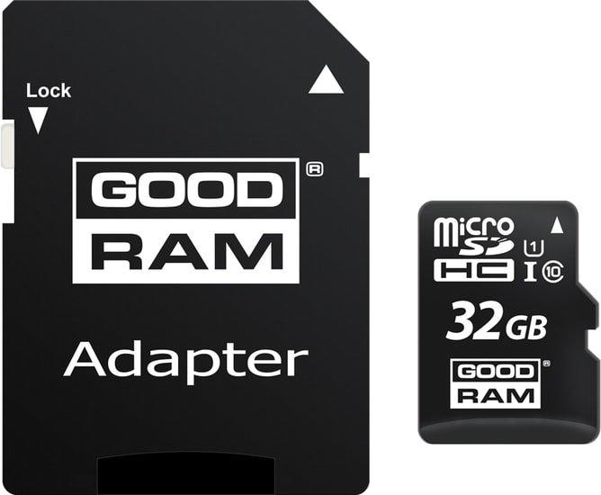 Карта памяти GOODRAM M1AA microSDHC M1AA-0320R12 32GB (с адаптером)