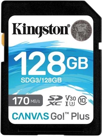Карта памяти Kingston Canvas Go! Plus SDXC 128GB