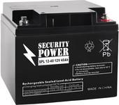 Аккумулятор для ИБП Security Power SPL 12-40 (12В/40 А·ч)