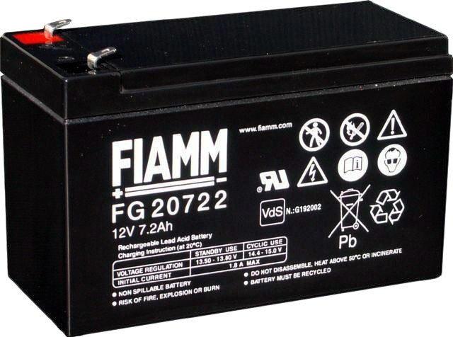 Аккумулятор для ИБП FIAMM FG20722 (12В/7.2 А·ч)