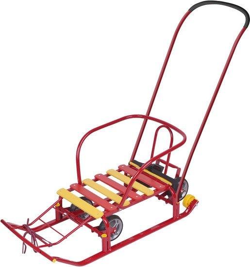 Санки-коляска Nika Тимка 5 универсал (красный)