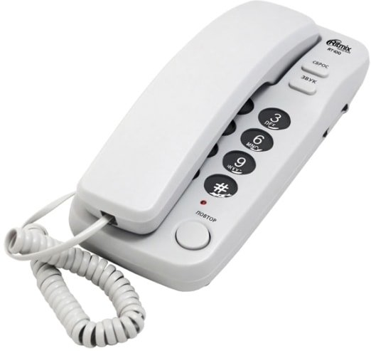 Проводной телефон Ritmix RT-100 (белый)