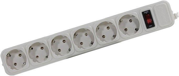 Сетевой фильтр ExeGate 6 розеток, 5 м, белый (SP-6-5W)