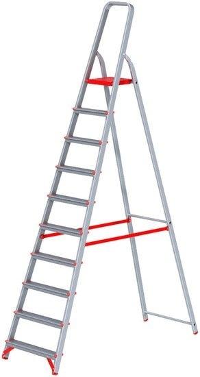 Лестница-стремянка Новая высота NV 311 алюминиевая профессиональная 9 ступеней