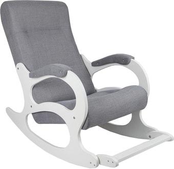 Кресло-качалка Бастион 2 с подножкой (рогожка, Мемори 15/белый)
