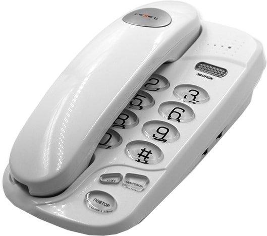 Проводной телефон TeXet TX-238 (белый)