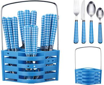 Набор столовых приборов Peterhof PH-22118 (синий)