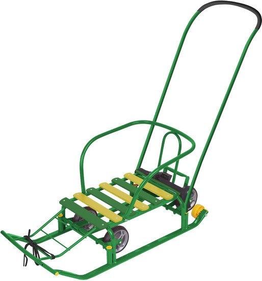 Санки-коляска Nika Тимка 5 универсал (зеленый)