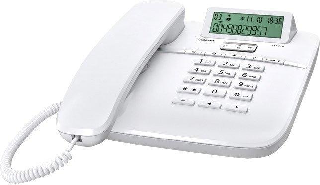 Телефонный аппарат Проводной телефон Gigaset DA610 (белый)