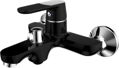Смеситель РМС SL123BL-009E (черный/хром)