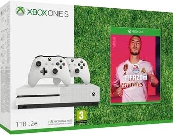Игровая приставка Microsoft Xbox One S 1TB FIFA 20 (2 геймпада)