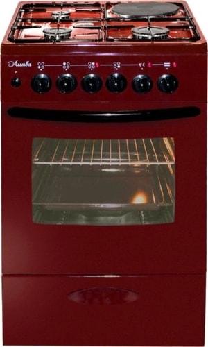 Кухонная плита Лысьва ЭГ 1/3г14 МС-2у (стеклянная крышка, вишневый)