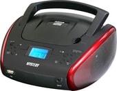 Портативная аудиосистема Mystery BM-6114U (черный/красный)