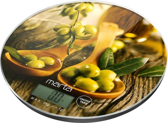 Кухонные весы Marta MT-1640 (олива)