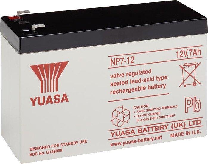 Аккумулятор для ИБП Yuasa NP7-12 (12В/7 А·ч)