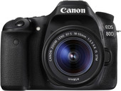 Зеркальный фотоаппарат Canon EOS 80D Kit EF-S 18-55mm IS STM
