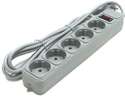 Сетевой фильтр Gembird Power Cube 5 розеток, серый, 1.8 м (SPG2-B-6)