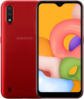 Смартфон Samsung Galaxy M01 3GB/32GB (красный)