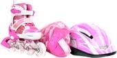 Роликовые коньки Fora LF-606T-PI 27-30 (розовый)