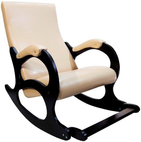 Кресло-качалка Бастион 4-2 с подножкой (экокожа, селена крем)