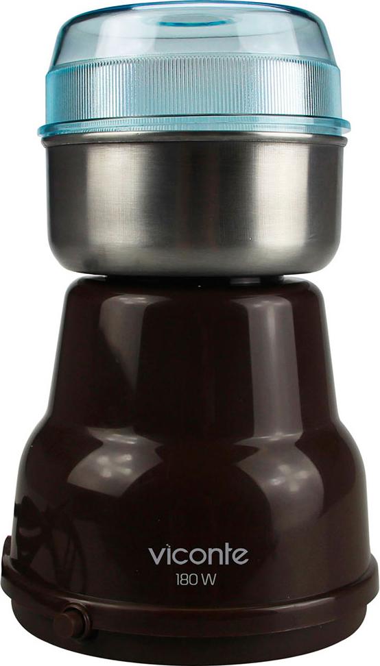Электрическая кофемолка Viconte VC-3103 (коричневый)
